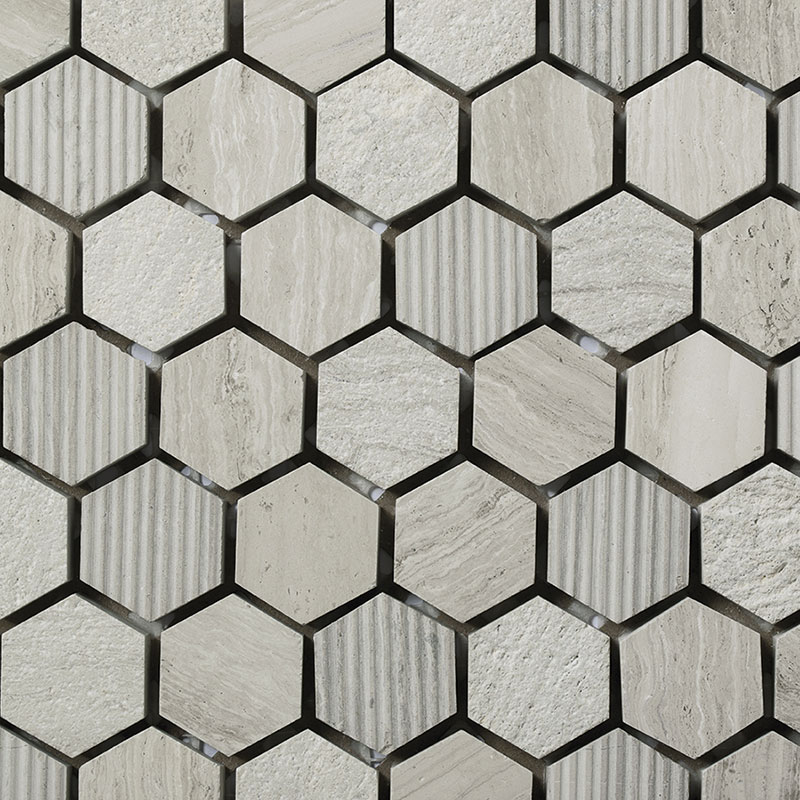 Hexagonal Wooden White