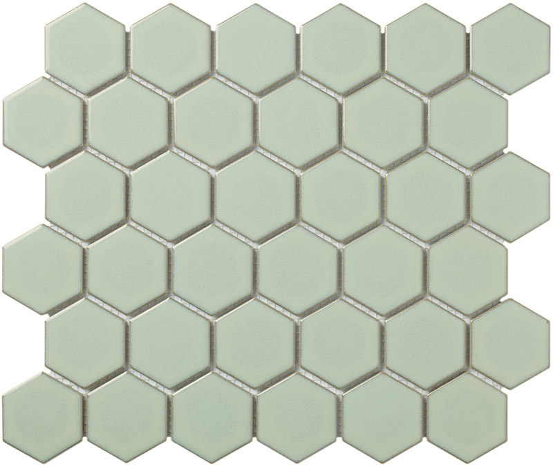 Mozaika HEX5 Soft Green Edge Glossy