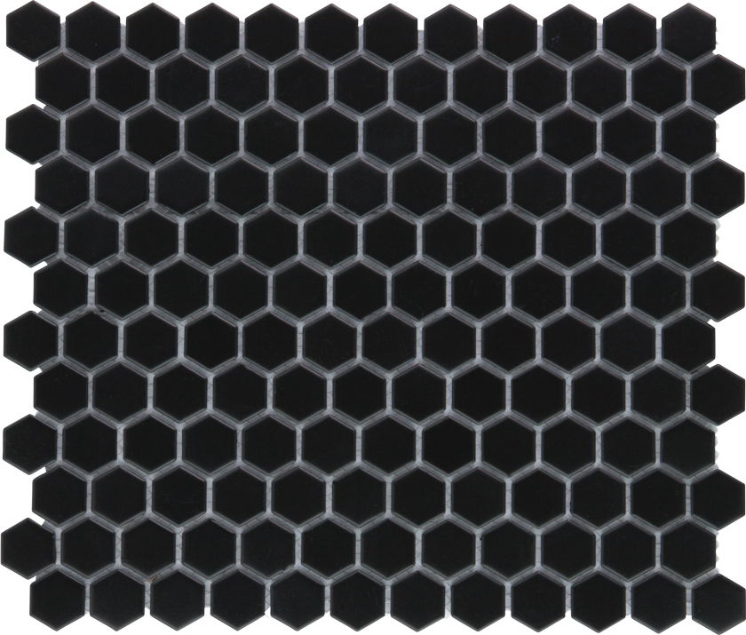 Mozaika HEX Black Mat