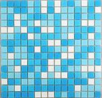 Obklad mozaika skleněná MIX White Blue