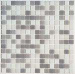 Obklad mozaika skleněná MIX White Grey