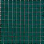 Keramická mozaika Dark Green Glossy