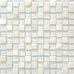 Kamenná mozaika se sklem Bianco Puro