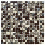 Kamenná mozaika se sklem Edel Kakao