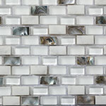 Obklad kamenná Mozaika Madreperla Bianco Carrara Glass