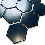 Mozaika HEXAGON 10 Black Mat